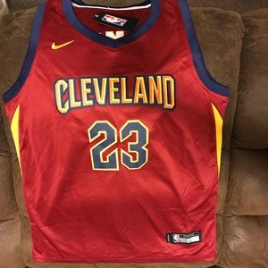 LeBron James Stitched  Nike Swingman Maroon Jersey
